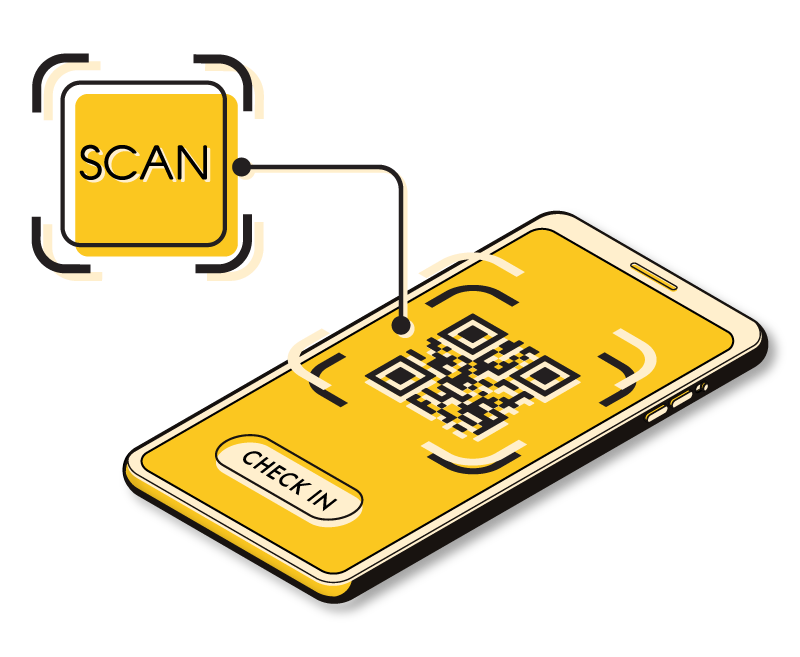 Scan guest QR code check-in